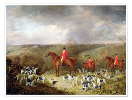 Poster Lord Glamis et ses chiens de chasse, 1823
