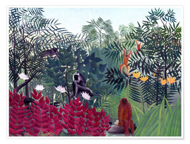 Henri Rousseau - Tropical Forest with Monkeys