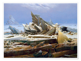 Poster  The Arctic (of the Hope) - Caspar David Friedrich