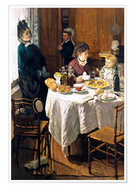Poster  The Breakfast - Claude Monet