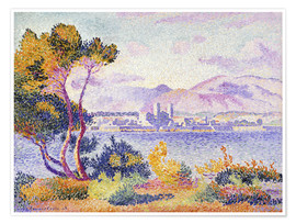 Poster  Antibes, Nachmittags (Antibes, Apres-midi). 1908. - Henri Edmond Cross