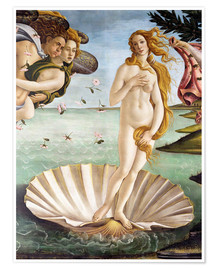 Poster  The Birth of Venus (detail) - Sandro Botticelli