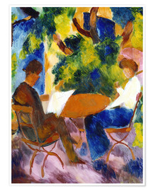 Poster  Couple à la table de jardin - August Macke