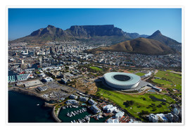 Poster  Cape Town Stadium and Table Mountain - David Wall