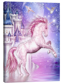 Tableau sur toile  Pink Magic Unicorn - Dolphins DreamDesign