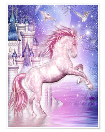 Poster  Pink Magic Unicorn - Dolphins DreamDesign