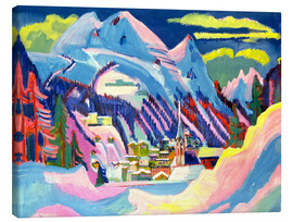 Toile  Davos in winter - Ernst Ludwig Kirchner
