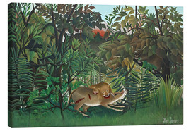 Toile  The hungry lion - Henri Rousseau
