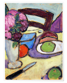 Poster  Still Life with a chair and a vase - Alexej von Jawlensky