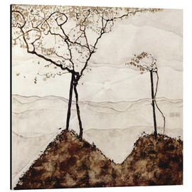 Alu-Dibond  Autumn sun and trees - Egon Schiele