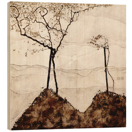 Bois  Autumn sun and trees - Egon Schiele