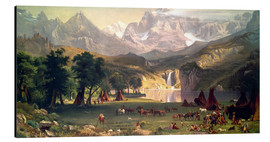 Alu-Dibond  Indian camp in the Rockies - Albert Bierstadt