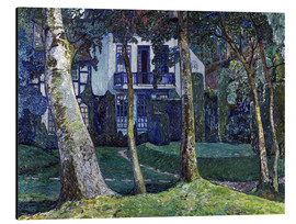 Tableau en aluminium  The Blue Hour (Barkenhoff), 1914 - Heinrich Vogeler
