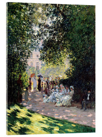 Verre acrylique  In the Park Monceau - Claude Monet