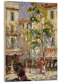 Bois  Street scene in Paris - Joseph Alfred Terry