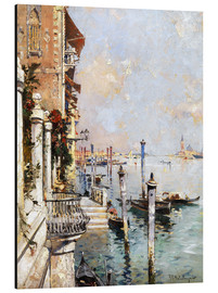 Tableau en aluminium  Le Grand Canal, Venise - Franz Richard Unterberger