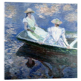 Verre acrylique  girls in a boat - Claude Monet