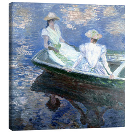 Toile  girls in a boat - Claude Monet