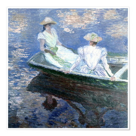 Claude Monet - girls in a boat