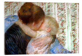 Tableau en verre acrylique  The Goodnight Kiss - Mary Stevenson Cassatt