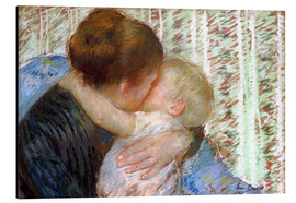 Tableau en aluminium  The Goodnight Kiss - Mary Stevenson Cassatt