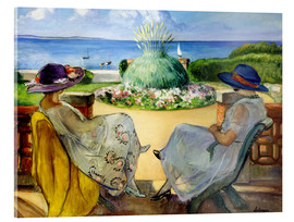 Verre acrylique  Two women on a terrace by the sea - Henri Lebasque