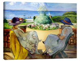 Toile  Two women on a terrace by the sea - Henri Lebasque