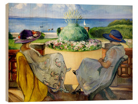 Bois  Two women on a terrace by the sea - Henri Lebasque