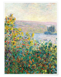 Claude Monet - Flower Beds at Vetheuil