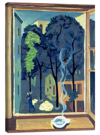 Tableau sur toile  Yard with sunbeams - Ernst Ludwig Kirchner