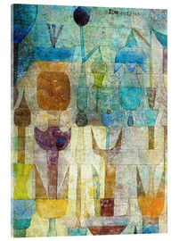Verre acrylique  Plants early in the morning - Paul Klee