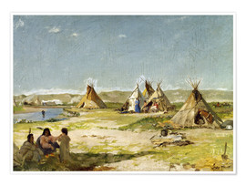 Poster  Camp of the Indians in Wyoming - Frank Buchser