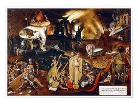 Poster  The Hell - Hieronymus Bosch