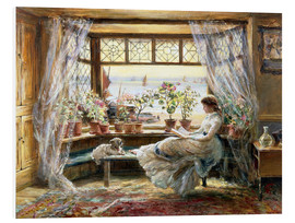 Forex  Reading at the window - Charles James Lewis
