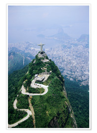 Poster  Corcovado Mountain with Christ the Redeemer Statue - Sue Cunningham