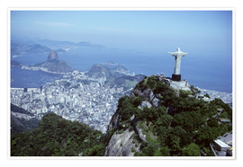 Poster  Rio de Janeiro with Christ the Redeemer Statue - Sue Cunningham