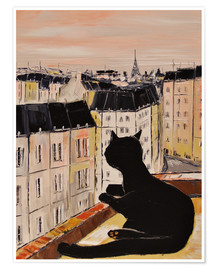 Poster  Chat noir à Paris - JIEL