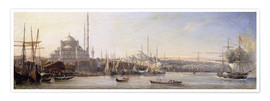 Antoine Léon Morel-Fatio - The Golden Horn, Suleymaniye Mosque and Fatih Mosque