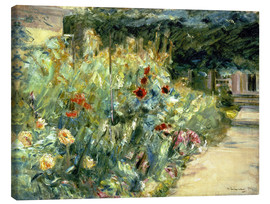Tableau sur toile  Flower Garden in Giverny at the Wannsee - Max Liebermann