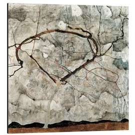 Alu-Dibond  Autumn tree in the wind - Egon Schiele