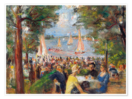 Poster  Beer garden on the Havel river - Max Liebermann