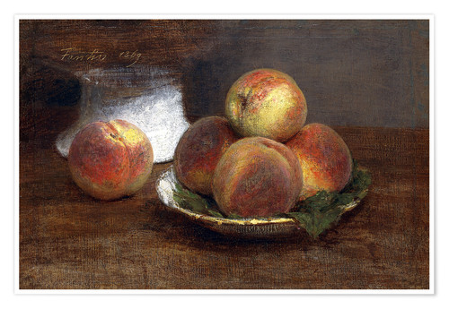Poster Bowl with Peaches