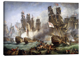 Tableau sur toile  La bataille de Trafalgar - William Clarkson Stanfield