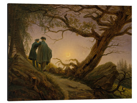 Alu-Dibond  Two men contemplating the moon - Caspar David Friedrich