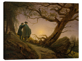 Toile  Two men contemplating the moon - Caspar David Friedrich