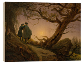 Bois  Two men contemplating the moon - Caspar David Friedrich