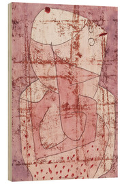Tableau en bois  Swiss clown - Paul Klee