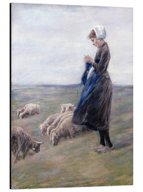 Tableau en aluminium  Shepherdess - Max Liebermann