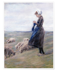 Poster  Shepherdess - Max Liebermann