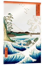 Verre acrylique  Sea at Satta in Suruga Province - Utagawa Hiroshige